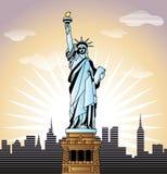 nowa swobody statua York ilustracji