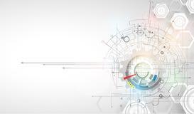 Nowa technologia biznesu tło ilustracji