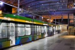 Nowa tramwaj linia w tunne w Poznańskim Obrazy Royalty Free