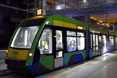 Nowa tramwaj linia w tunne w Poznańskim Zdjęcie Royalty Free