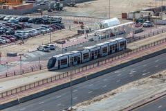 Nowa tramwaj usługa w mieście Dubaj Obraz Stock