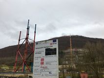 Nowa tunelowa budowa - Stuttgart 21, Aichelberg Obraz Stock