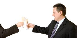 nowa umowa wznieść toast Zdjęcia Royalty Free