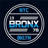 Nowa York miasta typografia, koszulek grafika ilustracja wektor