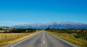 Nowa Zelandia droga Fotografia Royalty Free