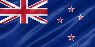 Nowa Zelandia flaga fotografia royalty free