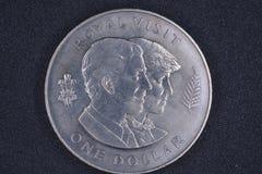 Nowa Zelandia Królewska wizyta jeden dolar Zdjęcia Royalty Free