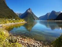 Nowa Zelandia, Milford dźwięk obraz royalty free