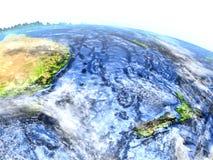 Nowa Zelandia na ziemi - widoczna ocean podłoga Zdjęcia Royalty Free