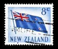 Nowa Zelandia na znaczkach pocztowych fotografia stock