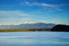 Nowa Zelandia, Okarito laguna widok fotografia royalty free