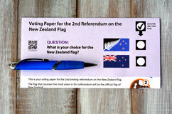 Nowa Zelandia referendum głosuje papier Fotografia Royalty Free