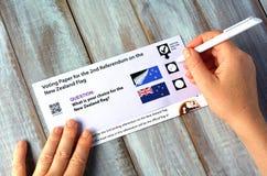 Nowa Zelandia referendum głosuje papier Zdjęcia Stock