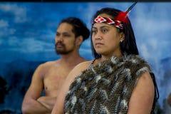 Nowa Zelandia rodzimy Maoryjski portret zdjęcie royalty free