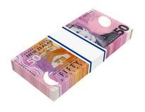 Nowa Zelandia waluta odizolowywająca na białym background.background. Zdjęcia Stock