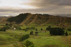 Nowa Zelandia - zapominająca światowa wieś zdjęcia stock