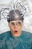 Nowator hełm dla mózg badania obrazy royalty free