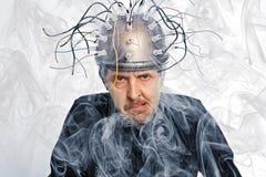 Nowator hełm dla mózg badania obraz royalty free