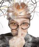 Nowator hełm dla mózg badania obraz stock