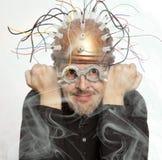 Nowator hełm dla mózg badania zdjęcia stock