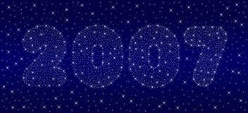 nowe 2007 lat z nieba ilustracja wektor