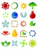 nowe barwione ikony Zdjęcia Stock