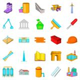 Nowe gromadzkie ikony ustawiać, kreskówka styl ilustracja wektor