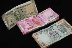 Nowe Indiańskie walut notatki Obrazy Royalty Free