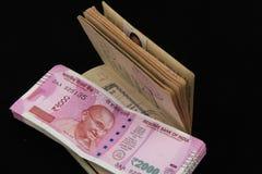 Nowe Indiańskie walut notatki Zdjęcia Stock