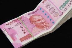 Nowe Indiańskie walut notatki Zdjęcia Royalty Free