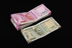 Nowe Indiańskie walut notatki Zdjęcie Royalty Free
