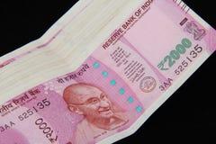 Nowe Indiańskie walut notatki Zdjęcie Stock