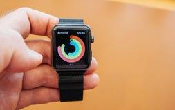 Nowe Jabłczane zegarek serie 3 obrazy stock