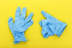 Nowe lateksowe rękawiczki zdjęcie stock