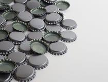 Nowe metal butelki nakrętki z Copyspace prawica Obraz Royalty Free