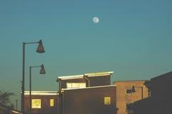 Nowe nieruchomości pod księżyc, Machester UK Anglia Zdjęcia Stock