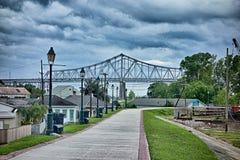 Nowe Orleans Louisiana miasta ulicy i linii horyzontu sceny zdjęcie royalty free