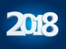 Nowe 2018 rok białe 3D postacie Fotografia Stock