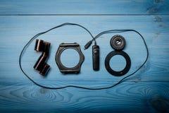 Nowe 2018 rok cyfry Obrazy Royalty Free