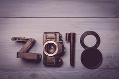 Nowe 2018 rok cyfry Obraz Stock