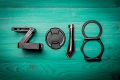 Nowe 2018 rok cyfry Obrazy Stock