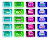 Nowe sieci etykietki, sieci ikony, guziki, majcher obrazy stock