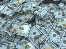 Nowe sto dolarowego rachunku stert ilustracja wektor