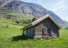 Nowegian drewna kabina Obraz Royalty Free