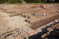 Nowego domu prace przygotowawczy dla budynek budowy i podstawy Obrazy Stock