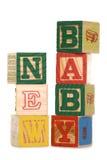 Nowego dziecka drewniani bloki Obrazy Royalty Free