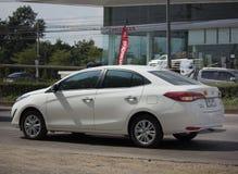 Nowego Intymnego sedanu Toyota Yaris ATIV Eco samochodowy samochód Zdjęcie Royalty Free