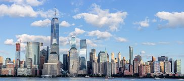 nowego jorku Manhattan dolna linia horyzontu obraz royalty free
