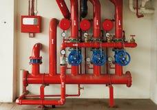 Nowego pożarniczego boju rurociąg alarmowy system blokował metalu łańcuchem Obrazy Stock