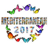 Nowego roku 2017 Śródziemnomorski świętowanie Obraz Royalty Free